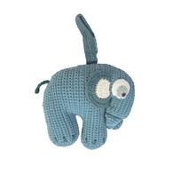 sebra Crochet Music Mobile Elephant Cloud blue cloud blue