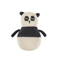 sebra Crochet Toddler Panda Black