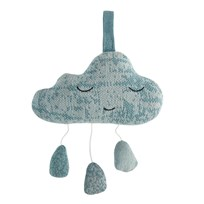sebra Crochet Music Mobile Cloud Cloud blue cloud blue