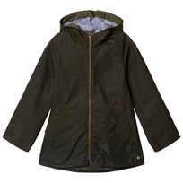 Barbour Wax Hooded Lands Jacka Olive OL52