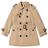 Burberry Beige Mini Wiltshire Trench Coat Honey