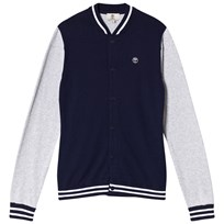 Timberland Navy and Grey Knit Varsity Cardigan 85T