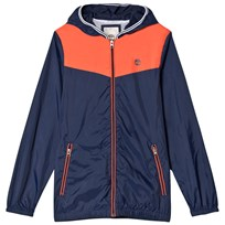 Timberland Navy and Orange Color Block Windbreaker 420