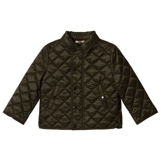 Burberry Olive Quilted Luke Jacket Olive