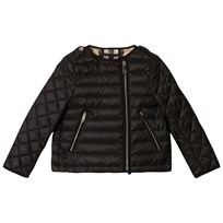 Burberry Black Gina Collarless Bomber Jacket Black