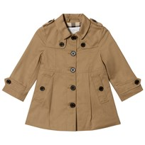 Burberry Cotton Single-Breasted Sophia Trench Coat Honey Honey