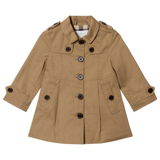 Burberry Single-Breasted Sophia Trenchcoat Honey Honey