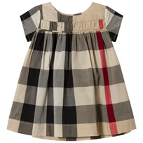 Burberry Beige New Classic Check Short Sleeve Ariadne Dress New Classic Check