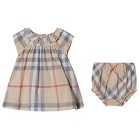 Burberry Pale Stone Check Emerald Dress Pale Stone
