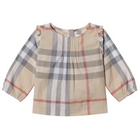 Burberry Pale Stone Check Neela Blouse Pale Stone