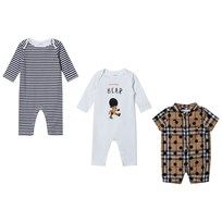 Burberry Cotton Three-piece Baby Gift Set Navy