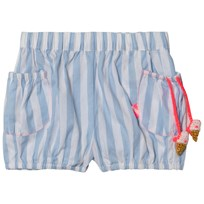 Billieblush Blue and White Stripe Shorts with Ice Cream Detail N48