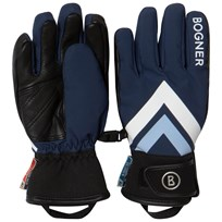 Bogner Navy Branded Ski Gloves 417