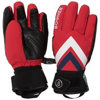 Bogner Red Branded Ski Gloves 551