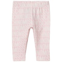 Moschino Kid-Teen Pale Pink All Over Branded Print Leggings 83193