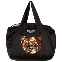 Moschino Kid-Teen Black Bear Changing Bag with Mat 60100