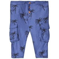 Bobo Choses Siesta Cargo Linen Pants Turkish Sea Turkish Sea
