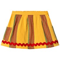 Bobo Choses Stripes Linen Pockets Skirt Banana Banana