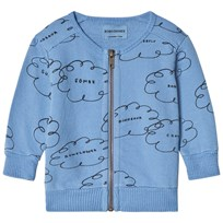 Bobo Choses Clouds Zip Tröja Heritage Blue Heritage Blue