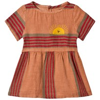 Bobo Choses Stripes Linen Tee-Dress Muted Clay Muted Clay