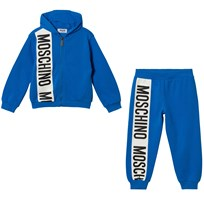 Moschino Kid-Teen Blue Stripe Logo Tracksuit 40203