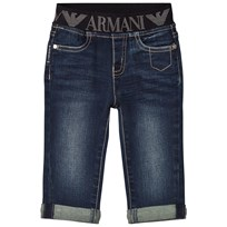Armani Junior Dark Logo Denim Trousers 1500