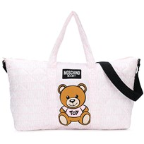 Moschino Kid-Teen Pink All Over Branded Bear Changing Bag with Mat 83193