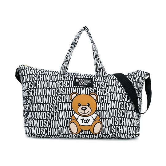 8f7ea8e6d Moschino Kid-Teen - Black All Over Branded Bear Changing Bag with ...