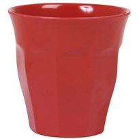 Rice Melamine Medium Cup Red Rød
