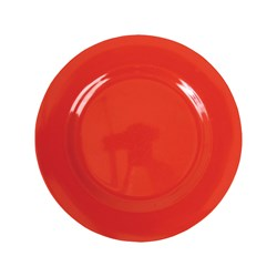 Rice Melamine Round Side Plate Red