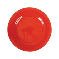 Rice Melamine Round Side Plate Red Rød