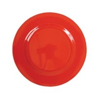 Rice Melamine Round Side Plate Red Red