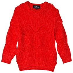 Little Remix Vicki Cable Sweater Red