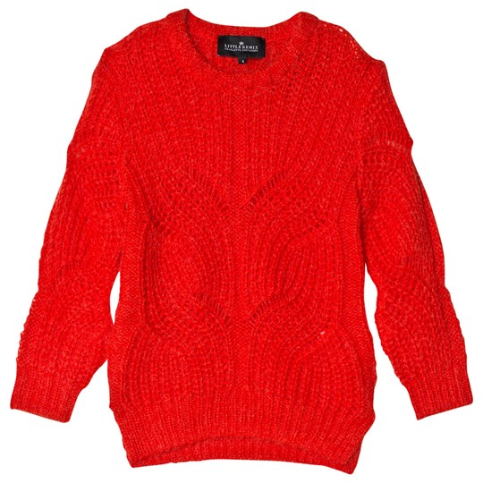 Little Remix Vicki Cable Sweater Red Red