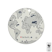 OYOY Placemat - The World White