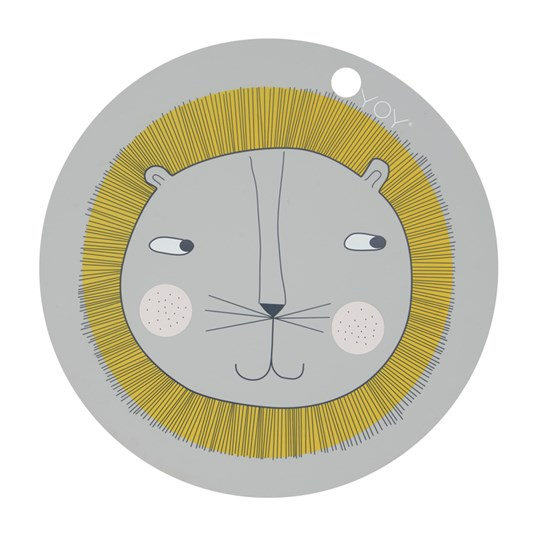 OYOY Placemat - Lion Light Grey