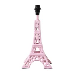 Rice Small Metal Eiffel Tower Table Lamp Soft Pink