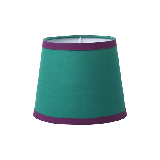 Rice Small Lampshade in Green with Purple Trimming Turquoise/winered