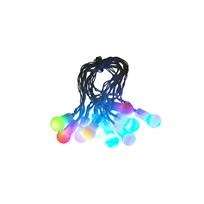 Rice Blinking Indoor Colored LED Mini Ball String Light - 10 Balls mix color