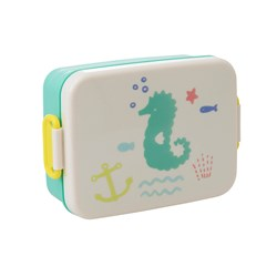 Rice Large Lunchbox with Divider Ocean Life Print Green