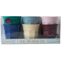 Rice 6-Pack Small Melamine Curved Cups Urban Colors urban color