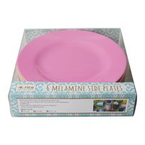 Rice 6-Pack Melamine Side Plates Classic Colors classic color