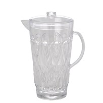 Rice Large Swirly Embossed Jug Acrylic Clear Clear