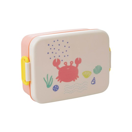 Rice Large Lunchbox with Divider Ocean Life Print  Coral Coral