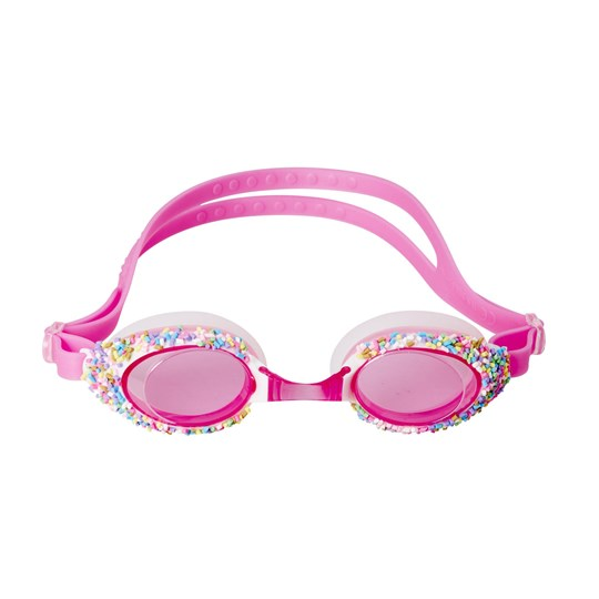 Rice Pink Swimming Goggles with Sprinkles Pink