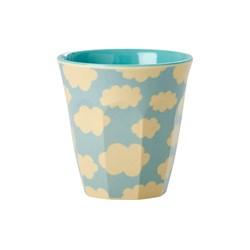 Rice Small Melamine Cup with Cloud Print