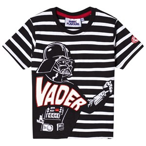 Image of Fabric Flavours Black Darth Vader Stripe Tee 3-4 years (3056057215)