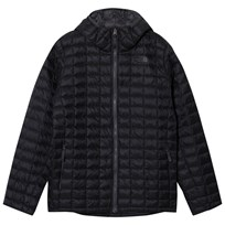 The North Face Black Chain Print Thermoball Hooded Puffer Jacket JK3 - TNF Black