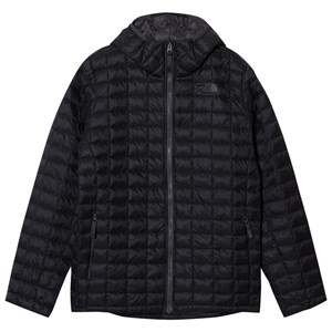 860d7dfa4b The North Face - Black Chain Print Thermoball Hooded Puffer Jacket -  Babyshop.com