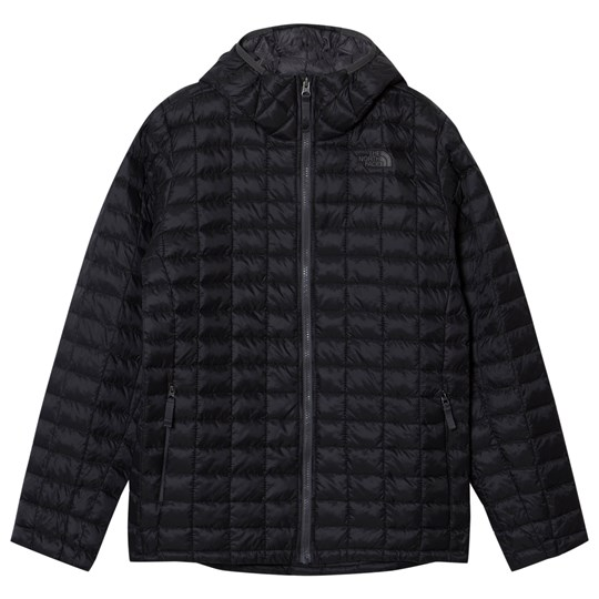 7f60718ab1 The North Face Black Chain Print Thermoball Hooded Puffer Jacket JK3 - TNF  Black